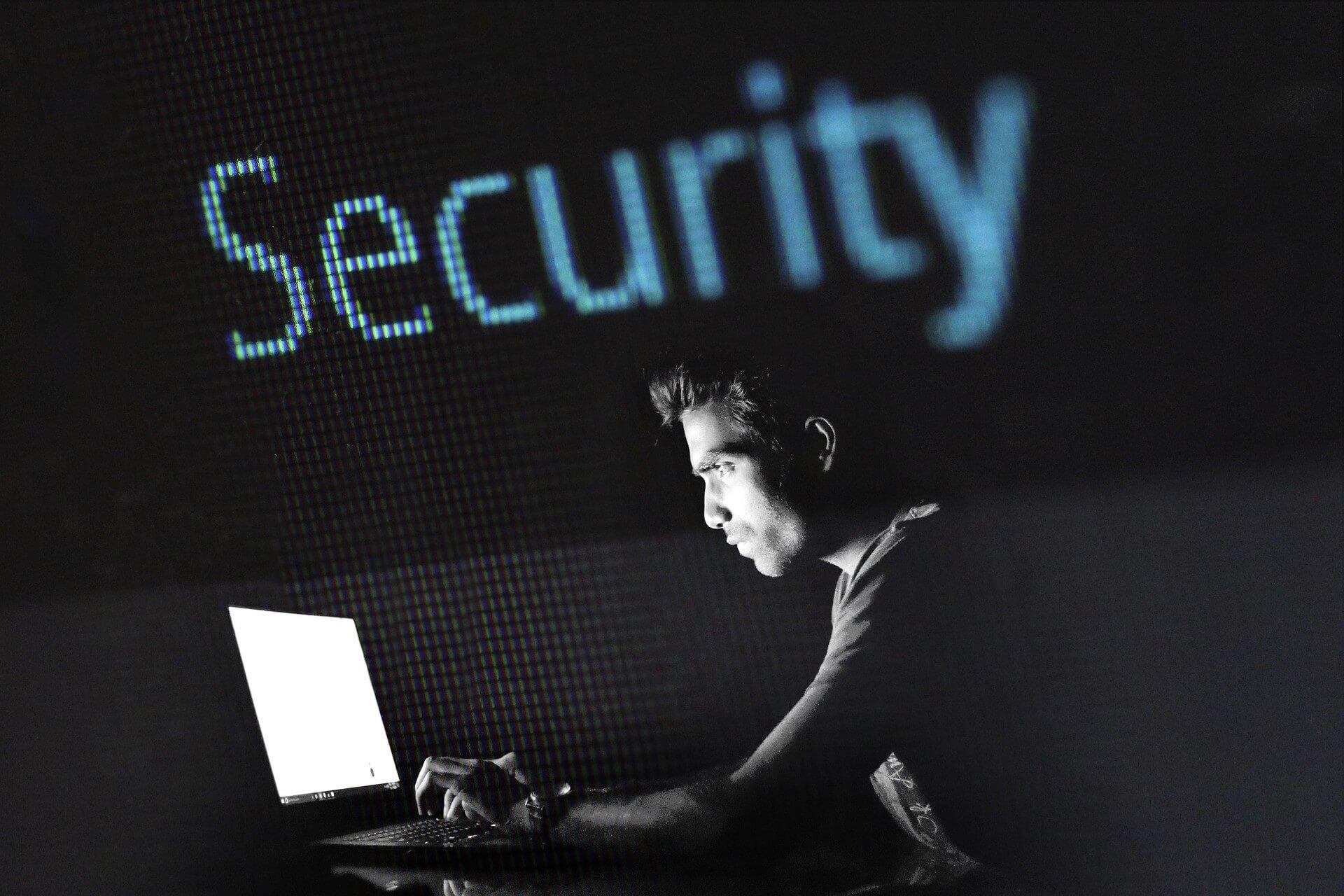 A man looking at his computer screen.