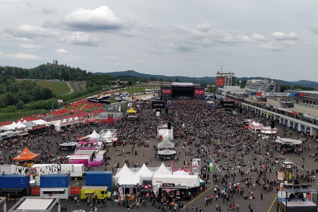 A view from Rock am Ring 2019.