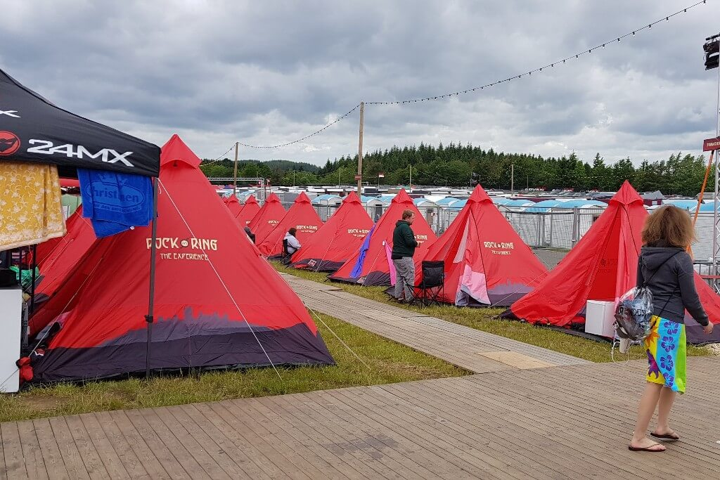 Tents in the camping area at Rock am Ring 2019.