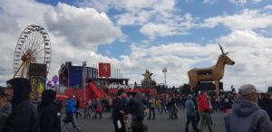 Ferris wheel and other attractions at Rock am Ring 2019.