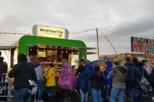 A food stand for vegans at Rock am Ring 2019.